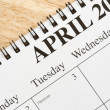 April on calendar. — Stock Photo