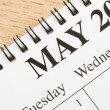 May on calendar. — Stock Photo