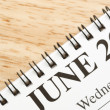 June on calendar. - Stock Photo