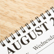 August on calendar. — Stock Photo