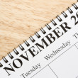 November on calendar. — Stock Photo