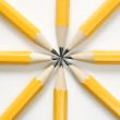 Pencils in star shape. - Stock Photo
