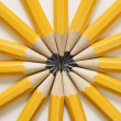 Stock Photo: Pencils in star shape.