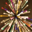 Radial blurred lights. - Stock Photo
