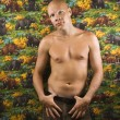 Shirtless male portait. — Stock Photo #9552125