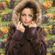 Woman in winter coat. — Stockfoto