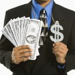 Royalty-Free Stock Photo: Man with money.
