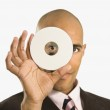 homme portefeuille compact disc — Photo