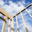 Construction Wall Framing - Stock Photo