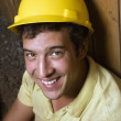 Caucasian Male Construction Worker Resting — Stock Photo