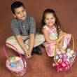 Kids with Easter baskets. — Stock Photo #9553298