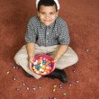 Stock Photo: Boy celebrating Easter.