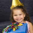 Girl celebrating birthday. - Stock Photo