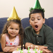 Kids having birthday party. — Stock Photo