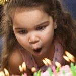Birthday girl. — Stock Photo