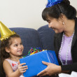 Family celebrating birthday. — Stock Photo #9553355