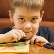 Boy drawing. — Stock Photo