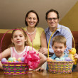 Easter family portrait. — Stock Photo