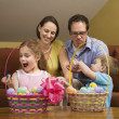 Family at Easter. — Stock Photo #9553468