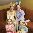 Family at Easter. — Stock Photo