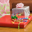 Wrapped gifts. - 图库照片