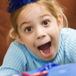 Royalty-Free Stock Photo: Excited girl at party.