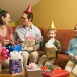 Royalty-Free Stock Photo: Family birthday party.