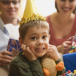 Boy at birthday party. — Stock Photo