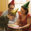 Family birthday party. — Stock Photo