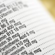 Nutritional Content Label — Foto Stock