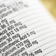 Nutritional Content Label — Stock Photo