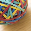 Stock Photo: Rubber band ball.