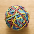 Rubber band ball. - Foto de Stock