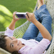 Royalty-Free Stock Photo: Female in hammock.