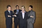 Businesswoman Amongst Businessmen — Stock Photo