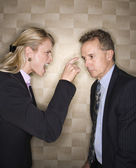 Businesswoman Reprimanding Businessman — Stock Photo