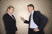 Businessman Reprimanding Businesswoman — Stock Photo