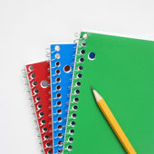 Pencil on notebooks — Stock Photo
