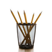 Pencils in holder. — Stock Photo