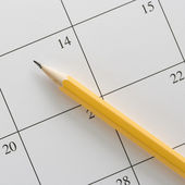 Pencil on calendar. — Stock Photo