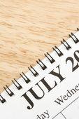 Luglio calendario. — Foto Stock