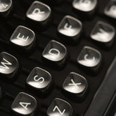 Typewriter keys. — Stock Photo