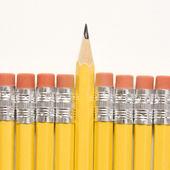 Row of pencils. — Stock Photo
