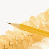 Pencil and shavings. — Stock Photo