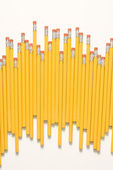 Uneven row of pencils. — Stock Photo