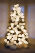 Blurred Christmas lights. — Stock Photo