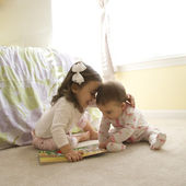 Girls with book. — Stock Photo