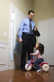 Businessman with daughter. — Stock Photo