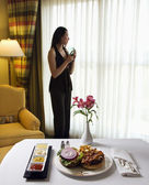 Room service. — Stock Photo