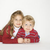 Boy and girl portrait. — Stock Photo